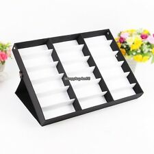 47 Inch Storage Display Case Box for Eyeglass Sunglass Glasses 18 Compartments