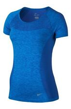 Nike Dri Fit Knit Short Sleeved T Shirt Women's Uk Small  (718569 459)