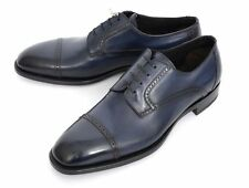 Mens BRIONI Anthony Navy Calf Brogue Captoe Oxford Shoes UK 8 1/2 US 9 1/2 D