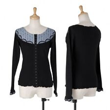 ANNASUI Hook and Eye cardigan Size S(P-1980)