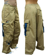 Ghast Clothing Brand Contrast Cargo Pants Dancewear Urban Flare Bottom Baggy