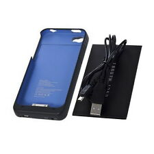 Blue 1900mAh External Backup Battery Charger Case For iPhone 4 4S LJ