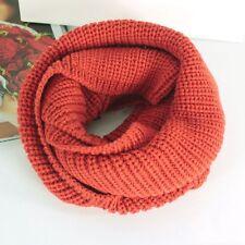 Women's Winter Knitted Crochet Wool Scarf Shawl Long Snood Tube Warmer Neck Wrap
