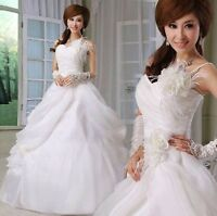Cheap Strapless White Sweetheart Ball Gown Bridal Wedding Dresses S M L XL New