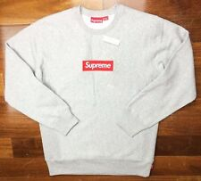 Supreme Gray Red Box Logo Bogo Crewneck Sweatshirt XL