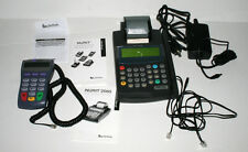 Verifone Nurit 2085 Grey Credit Card machine Pin Pad AC Adapter and Cords - Used
