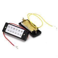 1Paire Mini Bridge Neck Humbucker Pickups Set électriques Pièces Guitare Durable