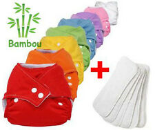 8 Couches Lavables Bambou + 8 Inserts Bambou TE1 Evoluable Couleurs Aux Choix