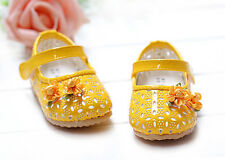 New Baby Girls Yellow Party Shoes 18-24 Months