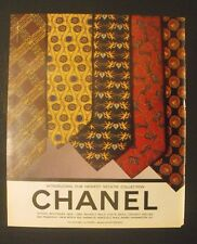 1995 CHANEL BOUTIQUES Necktie-Ties Angles~Chess Horse Men's Fashion Promo AD
