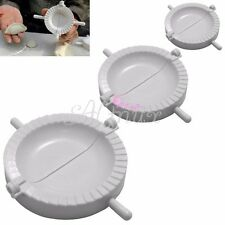 DIY 3 x White Plastic Dumpling Mold Empanada Dough Press Maker Tool Mould