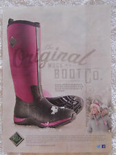 2013 Magazine Advertisement Page For Muck Boot Company Pink Work Boots Ad