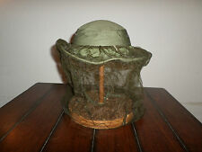 U.S MILITARY VIETNAM OD GREEN BOONIE HAT DATED 1969  JUNGLE HAT WITH INSECT NET
