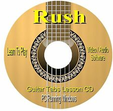 Rush **GUITAR TABS** Lesson Software CD - (147 Songs)