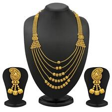 Sukkhi 5 Strings Keri Design Gold Plated Antique Necklace Set(2078NADV4000)