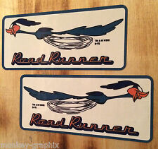 2er Set Roadrunner BEEP BEEP Oldschool Sticker Aufkleber / Hotrod Rockabilly