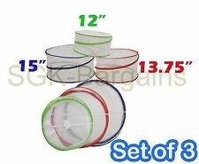 SET OF 3 POP UP PICNIC OUTDOOR FOOD COVERS PROTECTORS SAFE NET PEST INSECT AWAY