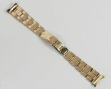 Vintage Rolex U.S.A. C I  1973 Yellow Gold Plated Oyster Rivet 19mm Band!
