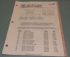 GM Delco 1987 Auto Radio Integral & Remote Cassette Service Manual 27D-1987-3F