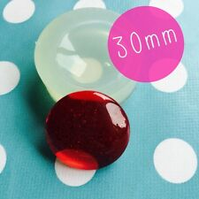 Round cabochon moule en silicone dome - 30MM résine bijoux making mold jewelry