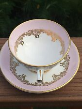 Royal Stafford Bone China Cup and Saucer - Pink & Gold - Hand Numbered