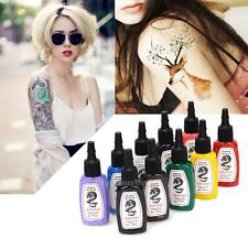 Makeup Tattoo Ink Pigment 10 Color Kit 15ml 1/2 OZ/Bottle Art Supply Temporary