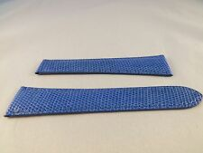 New Authentic Cartier OEM Tank strap Blue Lizard band,19/14 19X14 19mm