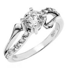 Elegant 925 Sterling Silver Cubic Zirconia Round CZ Dress Ring  Size 7, NEW
