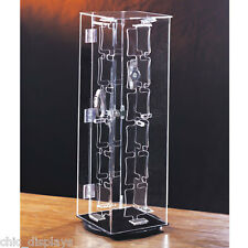 ROTATING WATCH CASE ACRYLIC DISPLAY CABINET SHOWCASE COUNTERTOP CASE48 WATCHES
