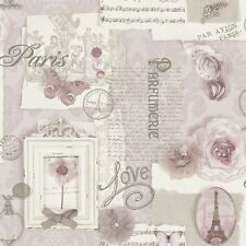 FELICITY PARIS WALLPAPER - SOFT PINK - ARTHOUSE 665403 SHABBY CHIC