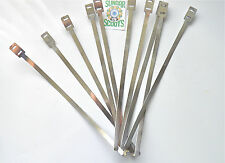 SET OF 10 POLISHED CABLE TIES...SUITABLE FOR LAMBRETTA,VESPA AND ANY SCOOT/BIKE
