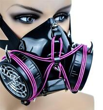 Purple El Wire Glow Light up Cosplay Respirator Mask Cyber Punk Anime Industrial