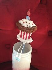 Handcrafted faux chocolate cupcake Basket Filler~Birthday Gift~Party Favor