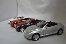 """Welly - Lexus SC430 Convertible 1:36 Scale Silver, Violet, Red, White 5"""""""
