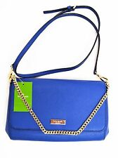 $228 NWT Kate Spade Greer Newbury Lane Genuine Leather Chain Crossbody Clutch