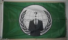 Anonymous Hacker Corporate 3'x5' Green Flag Banner Occupy - USA seller shipper
