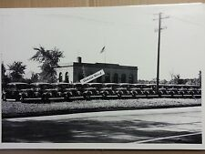 """12 By 18"""" Black & White PICTURE 1937 Ford Fleet of Police Cars in Detroit"""