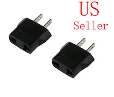 2 X New Travel Adapter Flat Plug from 220V to 110V USA
