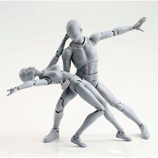 2PCS Body-Kun DX + Body-Chan DX Set Action PVC Figure Grey Color Ver. + BOX New
