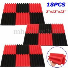 18pc Studio Acoustic Foam Tiles Wedge Sound Absorption Proofing Treatment Panels