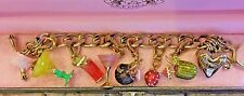 """JUICY COUTURE """"5 O'CLOCK SOMEWHERE"""" CHARM BRACELET WITH 6 CHARMS"""