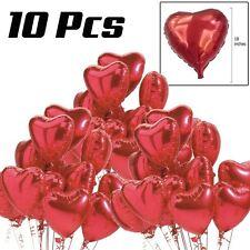 """10 Pz 18"""" Cuore Rosso Love Palloncini Elio San Valentino Matrimonio"""