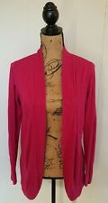 Chicos Sz 3 XL 16 Cardigan Sweater Open Front Pink Cotton Blend