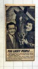 1954 Jockey Frankie Durr To Marry Odette Haley Acid Test Cheveley Park Stables