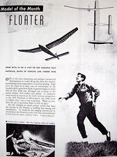 Vintage FLOATER Jasco & Jetco Gliders 2 FF / RC Model Airplane PLANS + Articles