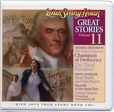 Your Story Hour Great Stories Volume 11 on Audio CD THOMAS JEFFERSON SLAVERY