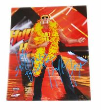 WWE HULK HOGAN HAND SIGNED PHOTO FILE PHOTO W/ INSCRIPTION AND PROOF 3