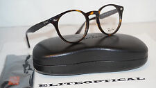 New Authentic RAY BAN ROUND Eyeglasses Black Havana/Clear RX2180V 2012 47 145
