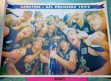 CARLTON AFL PREMIERS 1995 - HERALD SUN - MONDAY OCTOBER 2nd, Full Colour Poster