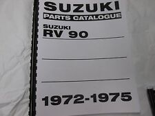 Suzuki RV90  parts manual   1972 1973 1974 1975